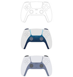 ps5 controller vector image