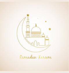 Ramadan kareem islamic logo design vector