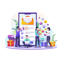 referral and affiliate partnership program vector image