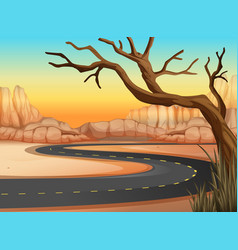 Road trip to western land vector