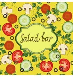 Salad bar template vector image