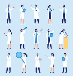 scientists people science lab worker chemical vector image