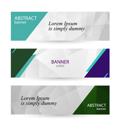 Set horizontal bright banners with empty place for vector