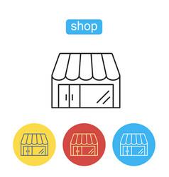 Shop simple store icon vector