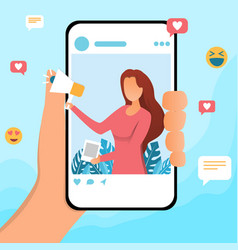 Social media influencer vector