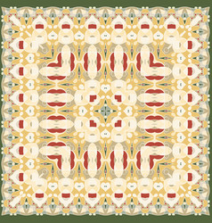 square pattern for the silk scarf vector image