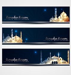 stylish set of ramadan banners vector image