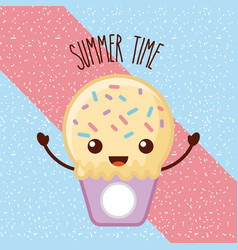 Summertime ice cream cartoon vector