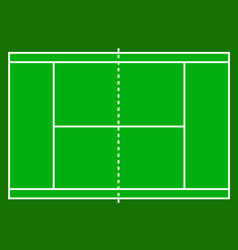 tennis court field isolated on white background vector image