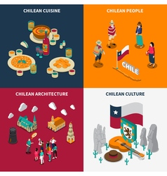 Toristic Chili 4 Isometric Icons Set vector