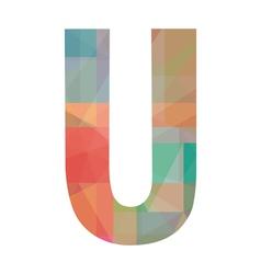 U alphabet vector
