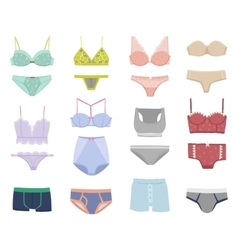 Underwear isolated set vector image