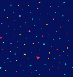 Universe space sky star seamless pattern vector