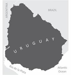 uruguay region map vector image
