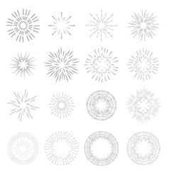 vintage sunburst template rays of light burst vector image