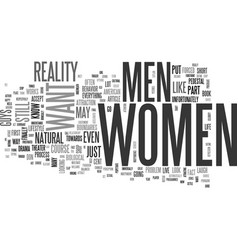 what women want text word cloud concept vector image