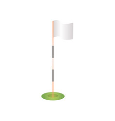 white blank golf flag pole in green grass vector image
