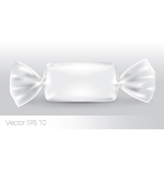 White rectangular candy package vector image