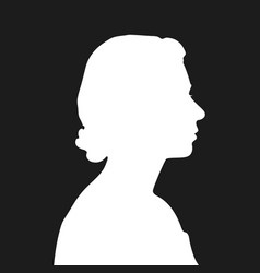 white silhouette queen elizabeth vector image