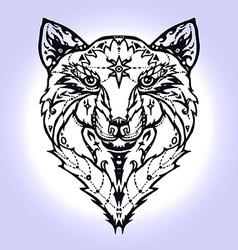 Wild wolf tattoo vector