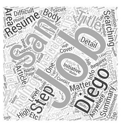Your guide to finding jobs in san diego word cloud vector
