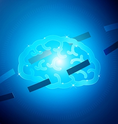 Brain Hi Tech vector image vector image