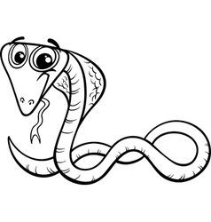 cobra cartoon coloring page vector image vector image