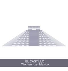 Color of El Castillo vector image