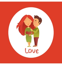 Couple in love 14 vector image vector image