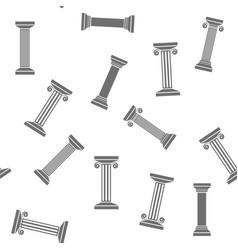 greek column seamless pattern vector image
