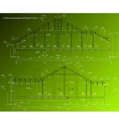 House plan on green background blueprint vector image house facade on green background blueprint vector image malvernweather Images