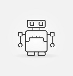robot concept icon in outline style vector image vector image