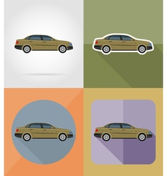 transport flat icons 04 vector image vector image