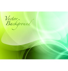 abstract green wave vector image
