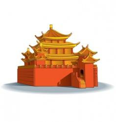 Chinese pagoda vector