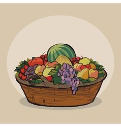 Fruitbasket vector