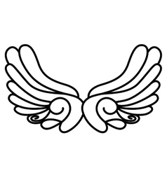 Isolated wing and angel or bird concept vector image