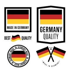 Made in Germany label set national flag vector image