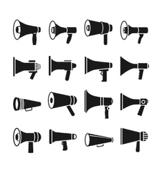 Megaphone announcement loudspeaker icons vector image vector image