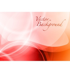 background abstract red wave vector image vector image