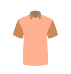 Beautiful pink T-shirt Isolated on White vector image vector image