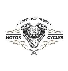 Custom motor in vintage style vector image vector image