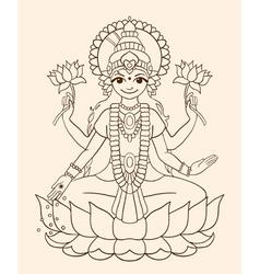 Goddess Lakshmi vector image