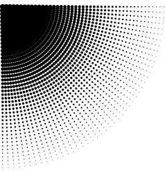 intensive diminishing halftone dots vector image vector image
