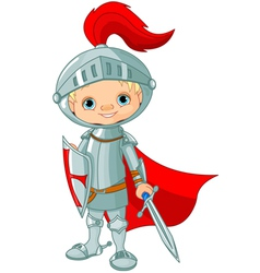 knight boy vector image vector image