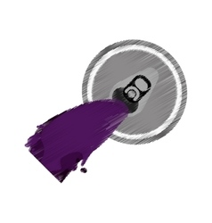 Purple opener can soda beer icon vector