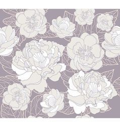 seamless floral pattern or background with flowers vector image vector image
