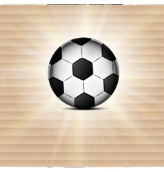 Soccer ball icon flat design blurry light effects vector image