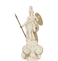 Greek statue of Athena vector image vector image