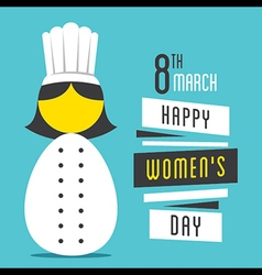 happy womens day women chef profession design vector image